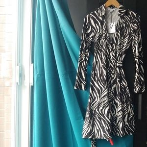 Diane Von Furstenberg Mini Zebra Wrap Dress